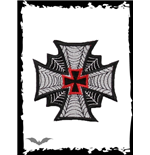 Patch: Iron Cross with Spider Webs