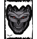 Patch: Flaming skull with red eyes