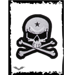 White and black skull patch