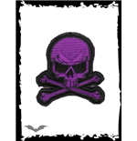 Small purple skull patch