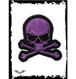Purple and black skull patch