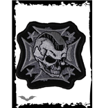 Small Patch: Mohawk Skull on Iron Cross