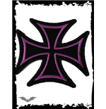 Patch: Iron Cross with purple Frame