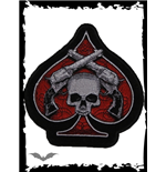 Patch: Red spade with skull & revolvers