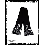 Scarf with cat skulls & X-bone