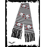 Black & white striped scarf Kats & Bonez