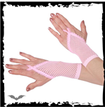 Pink net gloves. Loop for finger. Short