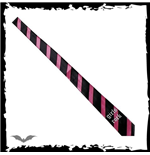 Black / pink stripes. Girls rock.