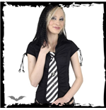 Tie Stripes white / black