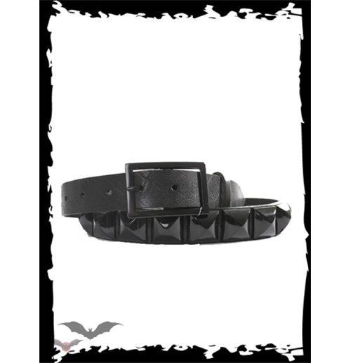 Belt with big black studs