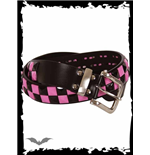 Black and pink chessboard belt