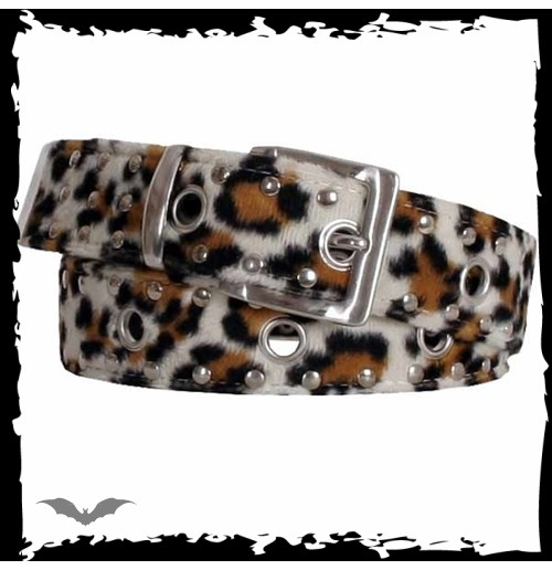 Leopard pattern belt