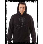 "Hooded Sweatshirt with ""Skull-in-Skull"""