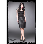 Leather-look skirt with zipper