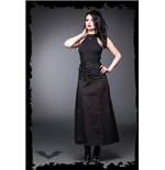 Long skirt with lacing and carabiner