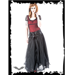 Long Gothic Organza Skirt with laced Bel