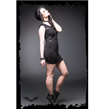Mini Dress with Leather Insets