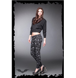Black Chino Trousers with grey Skull Pri