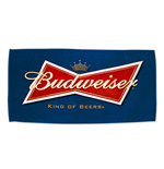 BUDWEISER Beer Logo Navy Blue Towel
