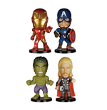 Avengers Age of Ultron Mini Wacky Wobblers Bobble-Heads 4-Pack 7 cm