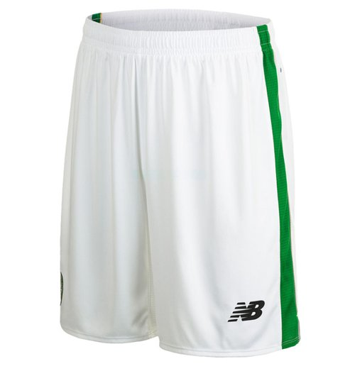 2015-2016 Celtic Home Shorts (White) - Kids