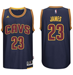 Mens Cleveland Cavaliers LeBron James adidas Navy Blue New Swingman CavFanatic Jersey