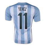 2015-16 Argentina Home Shirt (Tevez 11) - Kids