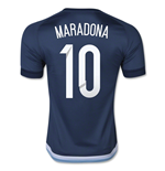 2015-16 Argentina Away Shirt (Maradona 10)