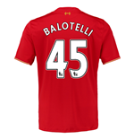 2015-16 Liverpool Home Shirt (Balotelli 45)