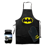 Batman cooking apron with oven mitt Logo