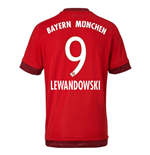 2015-16 Bayern Munich Home Shirt (Lewandowski 9)