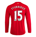 2015-16 Liverpool Home Long Sleeve Shirt (Sturridge 15) - Kids