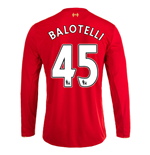 2015-16 Liverpool Home Long Sleeve Shirt (Balotelli 45) - Kids