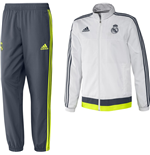 2015-2016 Real Madrid Adidas CL Presentation Tracksuit (White)