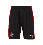 2015-2016 Rangers Away Football Shorts (Black) - Kids