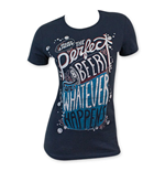 BUD LIGHT Women's Navy Blue Whatever Happens T-Shirt