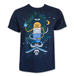 ADVENTURE TIME Men's Navy Blue Illuminati Tee Shirt