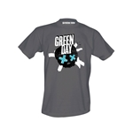 Green Day T-shirt Crosssed Skull