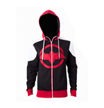 DC COMICS Batman Men's Arkham Knight Red Logo Hoodie, Large, Multi-Colour