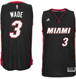 Mens Miami Heat Dwayne Wade adidas Black New Swingman Road Jersey
