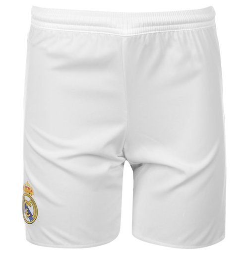 2015-2016 Real Madrid Adidas Home Shorts (White) - Kids