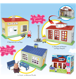 Peppa Pig City Playset (School/Supermarket/Firefighter Station)