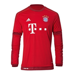2015-2016 Bayern Munich Adidas Home Long Sleeve Shirt (Kids)