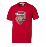 2015-2016 Arsenal Puma Crest Fan Tee (Red) - Kids