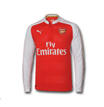 2015-2016 Arsenal Puma Home Long Sleeve Shirt (Kids)