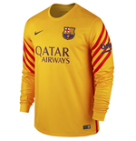 2015-2016 Barcelona Home Nike Goalkeeper Shirt (Gold) - Kids