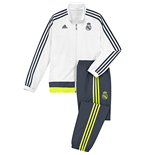 2015-2016 Real Madrid Adidas Mini Presentation Tracksuit (White) - Infants