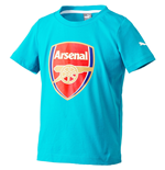 2015-2016 Arsenal Puma Crest Fan Tee (Capri Breeze)
