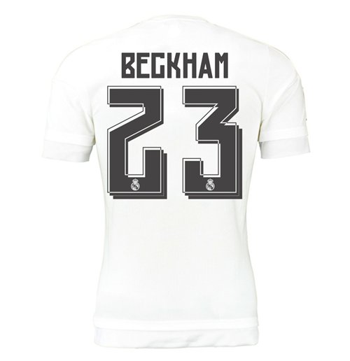 2015-16 Real Madrid Home Shirt (Beckham 23) - Kids