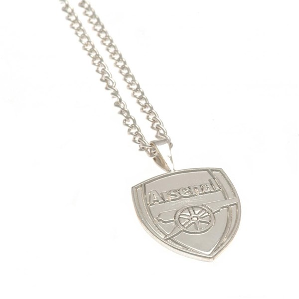 Arsenal F.C. Silver Plated Pendant & Chain XL